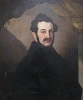 Antik, Széchenyi István gróf portré. XIX.század vége. Képeken jól látható állapotban.