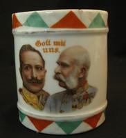 Ferenc JÓzsef és Wilmos császár porcelán emlék bögre