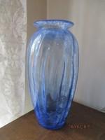 Régi hatalmas kék Karcagi váza hibátlan szép gyűjtöi darab darab