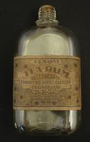 Régi tearumos cimkés üveg 0,2 l