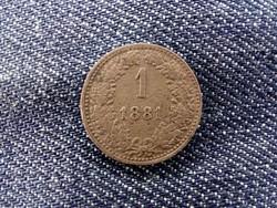Ausztria Ferenc József 1 Krajcár 1881/id 9388/
