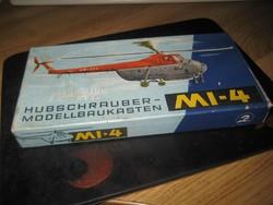 MI  -4  NDK  helikopter  modell  a 60 as évekből  szép állapot gyűjtői db 185x95mm