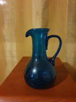 Antik szakított huta üveg kancsó 1.