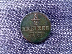 Ausztria Ferenc József réz 1/2 Krajcár 1851 B/id 9394/