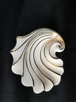Különleges Zsolnay aranyozott kagyló formájú tálka, hamutál, hibátlan állapotú