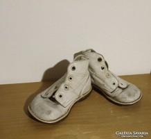 Antik bőrtalpú babacipő, baba cipő,gyerek cipő