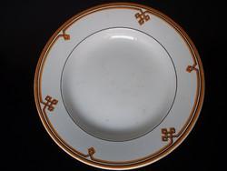 Antik MAYER VÁROSLŐD jelzésű majolika fali tányér az 1866-1884 közti időszakból