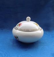 Hollóházi porcelán cukortartó (14/d)