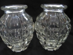 Kézigránát forma kristály ibolyás váza