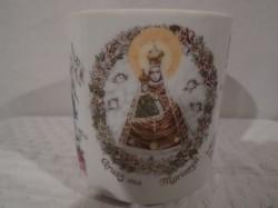 Porcelán bögre - régi - Mariazellből - 2,5 dl - hibátlan