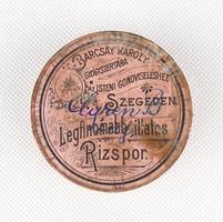 0X309 Antik Barcsay Károly gyógyszeres doboz