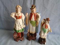 3 db szépen festett német figura csoport