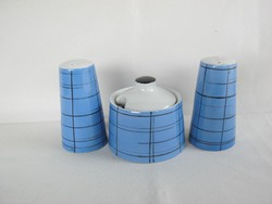 Fasold & Stauch Bock Wallendorf porcelán art deco fűszertartó készlet