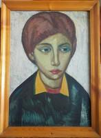 Józsa János festőművész Fiatal lány portréja