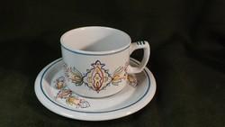 Antik Gránit teás szett csésze + tányér ritka minta