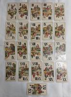 Tarokk kártya - Hamburger és Birkholz Rt., szép állapotban! (42 db)