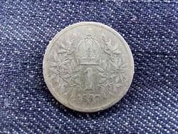 Ausztria ezüst 1 Korona 1897, ritkább/id 9364/