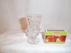 Kristály váza - picike - 8 x 4,5 cm - hibátlan