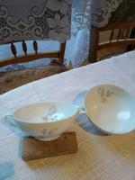 Régi  jelzett erőleveses csésze párban