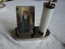 Régi ART DECO asztali lámpa fényképtartóval