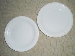 Domború mintás lapos tányér - GRÁNIT Kispest CS.K.GY. - 24 cm átmérő - 2 db