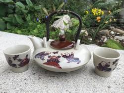 Japán teakiöntő, két db kis pohárkával