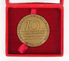 0X347 Warszawa bronzplakett díszdobozban 1908-1978