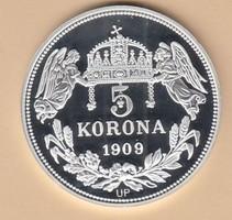 Ezüst 5 Korona Mátyás király Királyi Koronák