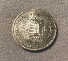Ferenc József 1876 KB ezüst 1 Forint