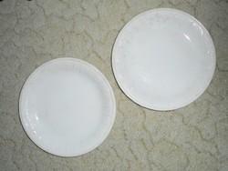 Domború mintás lapos tányér - GRÁNIT Kispest CS.K.GY. - 23.8 cm átmérő - 2 db