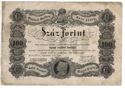 100 Száz forint 1848 Kossuth bankó 6. eredeti állapot