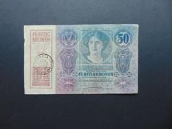 50 korona 1914 Románia Felülbélyegzés