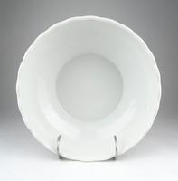 0X277 Antik osztrák fehér porcelán leveses tál