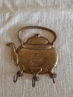 Réz teáskanna akasztó