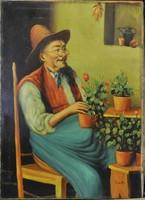 Ismeretlen ,festő: Öreg kertész