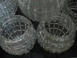 Gömb alakú vintage gyertyatartó, mécsestartó, kis váza
