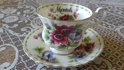 Royal Albert csésze+alj,  március