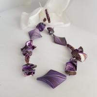 Kagylós nyaklánc lila