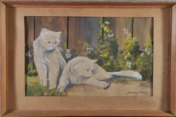 Ismeretlen művész: Játszadozó cicák