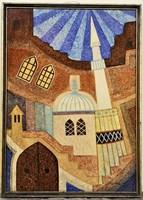Tavaszy Noémi (1927 - 2018 ) Hercegovini emlék c festménye 73x53cm EREDETI GARANCIÁVAL !!