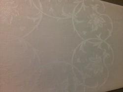 Szép mintájú damaszt szalvéta monogram hímzéssel, hibátlan, 100 éves (2)