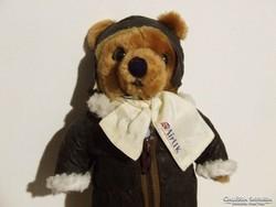 Aranyos régi játék mackó, maci, medve repülős ruhában-most olcsóbb!