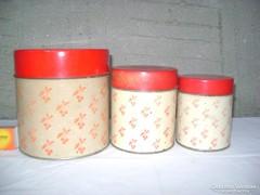 Három darabos lemezből készült fűszer doboz