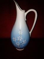 Hollóházi kézzel festett porcelán váza, füles