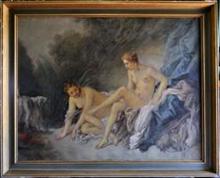 Francois Boucher (1703-1770) után: Diana fürdője, 19. sz
