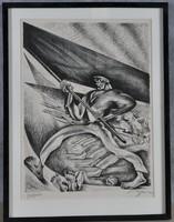 Zilzer Gyula (1898, Budapest.1969, New York): Zászlóvivő, Gonfalonier