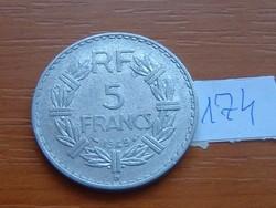 FRANCIA 5 FRANCS FRANK 1949 / B ALU. 174.