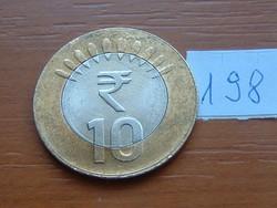 INDIA 10 RÚPIA 2014 BIMETÁL NOIDA 198.