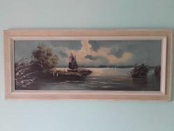 HILD: A Bodensee Festmény olaj-vászon