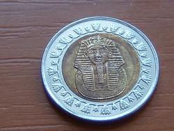 EGYIPTOM 1 POUND FONT 2008 AH1429 Tutanhamon BIMETÁL #